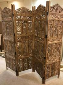 Solid Indian Wood Screen