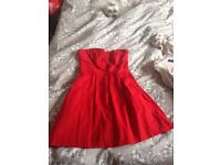 Warehouse red dress size 12