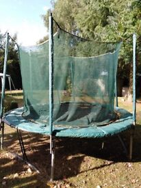 Free to a good home 10ft trampoline, needs new outer cover and safety net