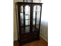 Mahogany Display Cabinet, HiFi Unit & CD Unit+Drop Leaf Table+4 Oak Chairs+Pine Bookcase+Table Set
