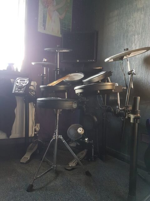 Roland TD-11KV Electronic Drum Kit + Matt + Kick Pedal + Throne + ATH-M50 +  Monitor + Cables | in Oakwood, West Yorkshire | Gumtree