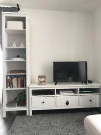 Tv bench + book case
