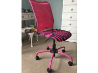Ikea Pink office/desk chair - perfect for a teenager or girl's room.