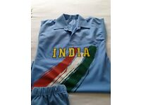 Brand new men's blue Indian cricket kit