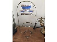 Chrome cake stand / carrier