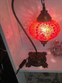 Red antique lamp