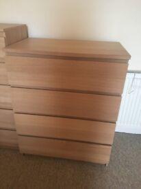 IKEA Malm 4 drawers