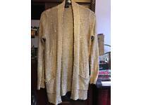 Gold Tesco size 8 cardigan