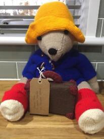 Beautiful Hand knitted Paddington bear toy