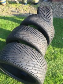 285/35/22 ZR part worn tyres all with over 6.5mm range rover sport, Q7, X5
