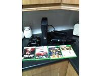 XBOX 360 S 120GB, 2X CONTROLLERS, 6X GAMES, KINECT, HDMI