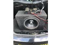 Sub and amp kenwood JL audio