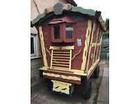 Horse drawn child's gypsy wagon