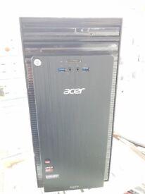 Acer Aspire TC-220 AMD A10-7800 3TB! HDD 8GB RAM RADEON R5 Win 10 Desktop