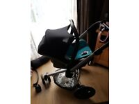 Quinny buggy with maxi cosi car seat