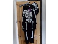Kids Age 7-8 Halloween Costume with Mask - Skeleton *two available £6 each*
