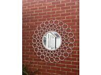 Large metal indoor/outdoor mirror