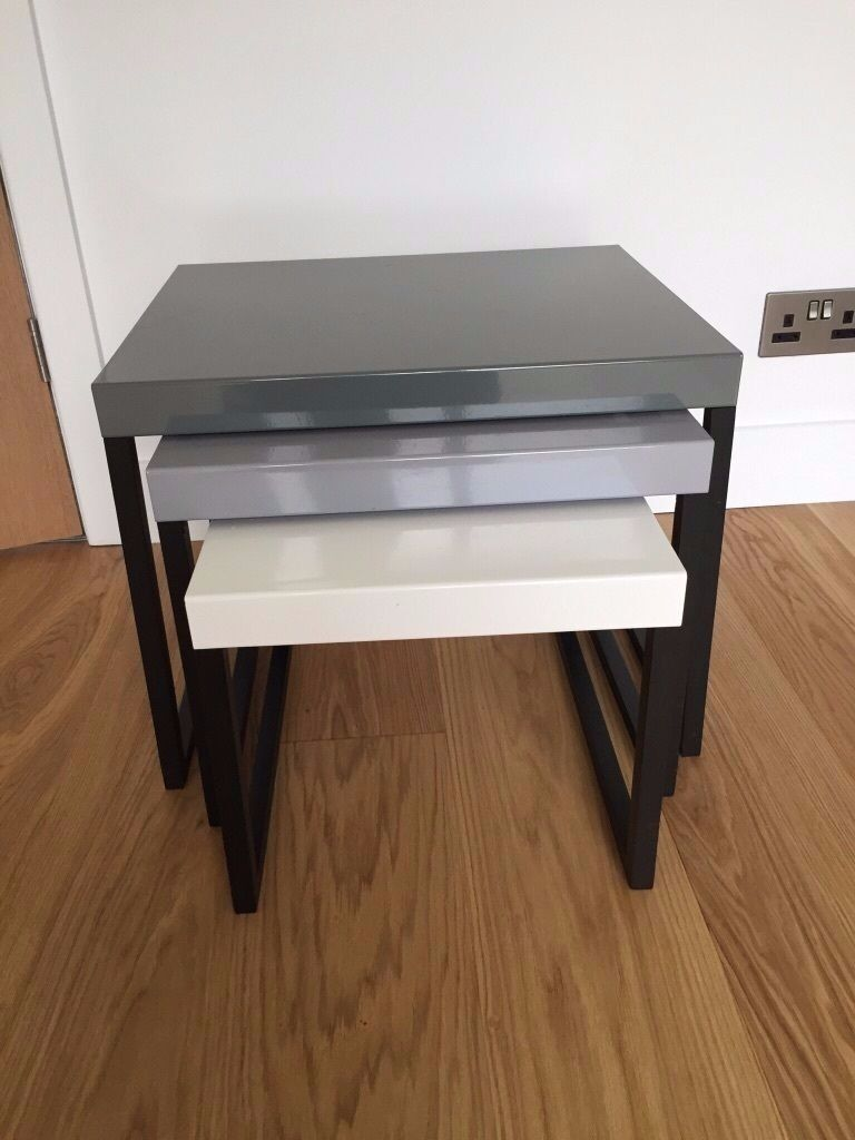 Habitat kilo nest of tables in bathgate west lothian for Coffee tables habitat