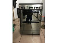 Indesit electric cooker 60cm ceramic double oven stainless steel 3 months warranty free local delive