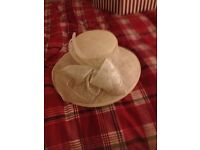 Cream ladies wedding hat