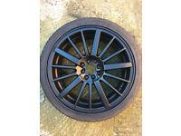 """Matt Black Alloy wheels 18"""" inch x 7.5j 4x100 4x114.3 alloys wheel 4 x 100 4 x 114"""