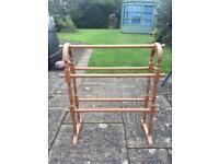 Wooden free standing towel rail