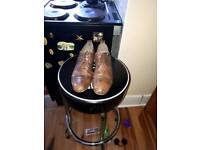 Hudson men's tan leather shoes Sz8