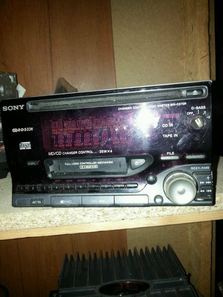 Sony 2din CD radio cassette player