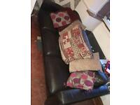 Settee and cushions