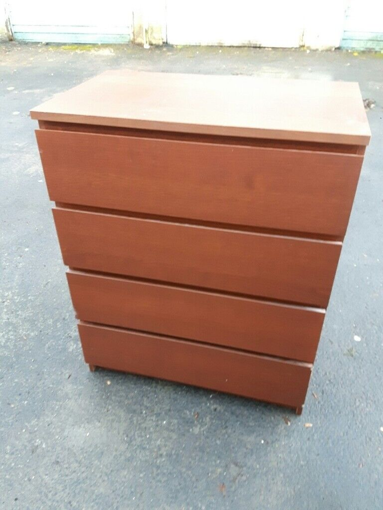 best authentic 7c5e0 72407 Ikea Chest of 4 drawers (Brown stained ash veneer) | in Murrayfield,  Edinburgh | Gumtree