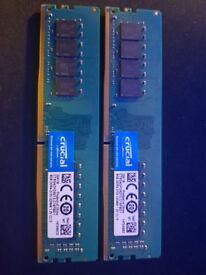 Crucial Ram 2X 8Gb Ram 16GB Total ddr4 2133MHZ