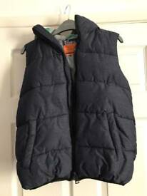 Boys Blue hooded gilet/ jacket, age 12, next, excellent condition