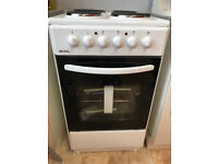 BEXEL BE50W White Electric Cooker with 4 Solid Plate Hob Zones