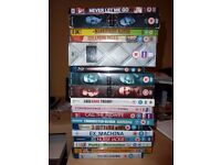 15 DVD's and 3 Blu Ray including box sets good condition,