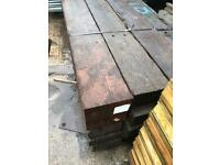 Hard wood reclaimed railway sleepers £12.50 per meter