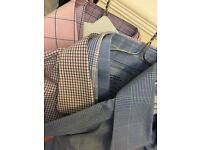 6 pack 15.5 / 35 Extra Slim Non-Iron Charles Tyrwhitt Formal Single Cuff Mens Shirts Price of Wales