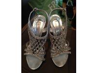 Silver great gatsby diamanté heels