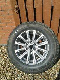 Brand new mitsubishi L200 alloy wheel and tyre 245/65/17