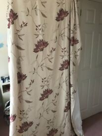Amelia pencil pleat curtains 168 x 228 and 228 x182
