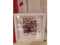 NEW MOTHER'S DAY gift 25cm square decal picture frame