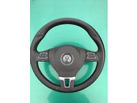 GENUINE VW PASSAT SHARAN GOLF MULTIFUNCTION STEERING WHEEL AIRBAG 2011-