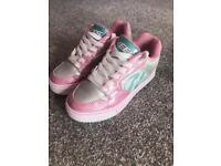 HEELYS MOTION PLUS - SILVER/LIGHT PINK/LIGHT BLUE SIZE 1