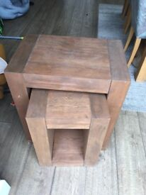 Next solid Oak nest of tables