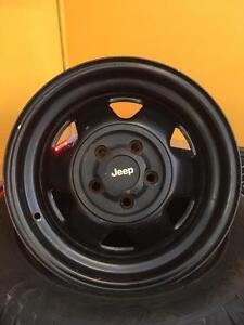 """Mag jante rim steelies jeep 5x114 15"""" 100$ les 4"""