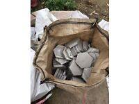 Grey Hexagonal Tiles - Argelith Hexalith 3sqm