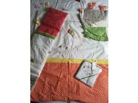 Mamas and Papas baby nursery quilt curtains