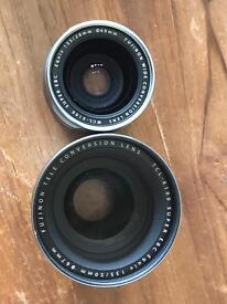 Fuji/fujifilm/fujinon x100/x100s/x100t/x100f tele conversion lens tcl-x100 50mm equivalent