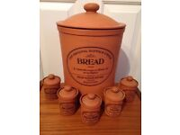 Original Suffolk Bread Crock and Herb Canisters #SellSaturday