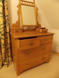 OLD RUSTIC PINE DRESSING TABLE