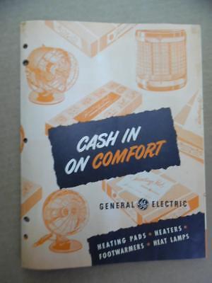c.1960s General Electric GE Heater Fan Heat Lamp Catalog Brochure Vintage